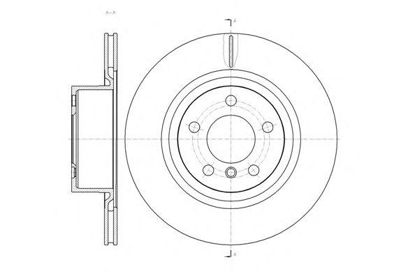 Тормозной диск REMSA 61455.10