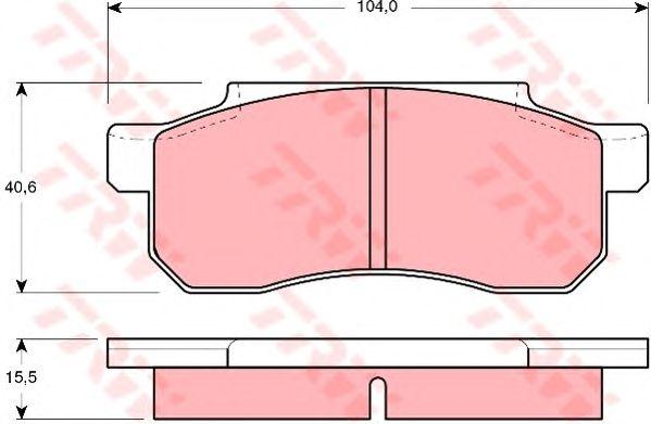 Тормозные колодки TRW GDB361
