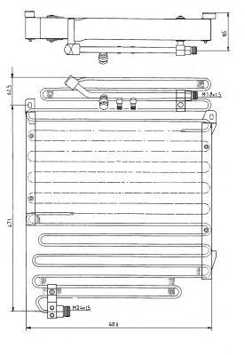 Радиатор кондиционера NRF 35057