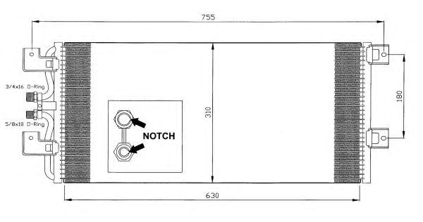 Радиатор кондиционера NRF 35140