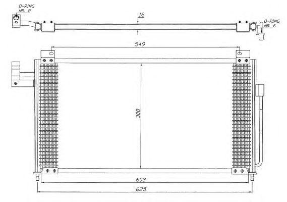 Радиатор кондиционера NRF 35341