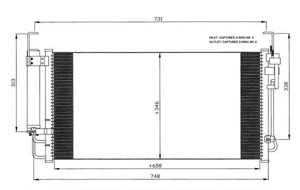 Радиатор кондиционера NRF 35473