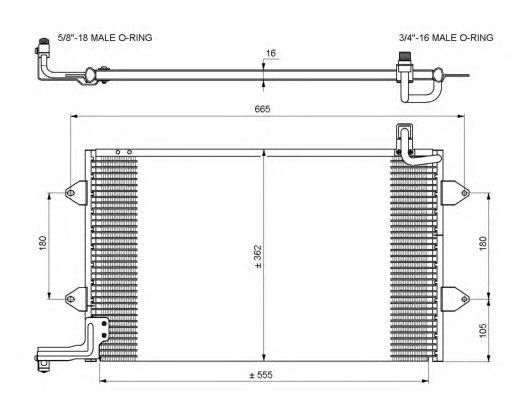 Радиатор кондиционера NRF 35584