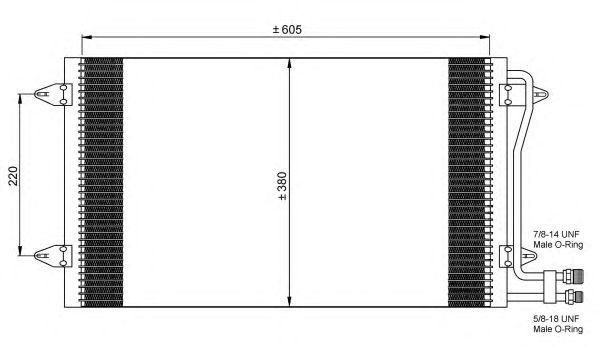 Радиатор кондиционера NRF 35656