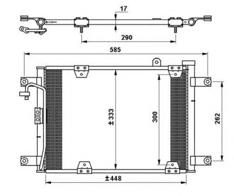 Радиатор кондиционера NRF 35768
