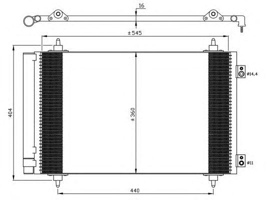 Радиатор кондиционера NRF 35844