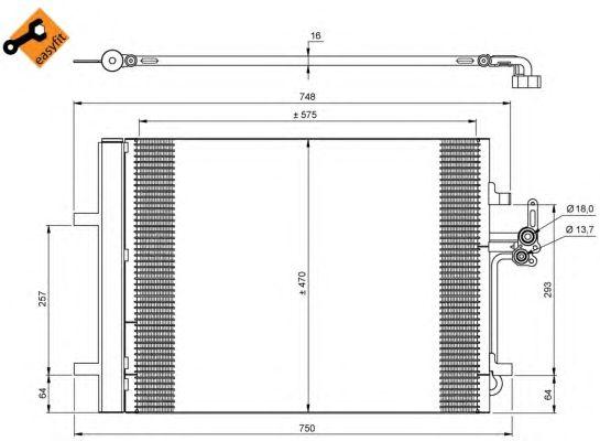 Радиатор кондиционера NRF 35850