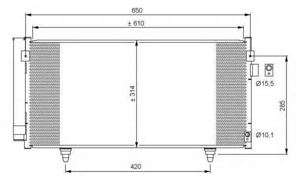 Радиатор кондиционера NRF 35855
