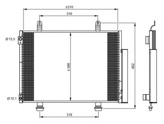 Радиатор кондиционера NRF 35944