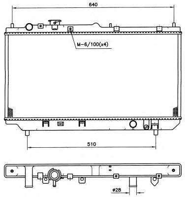 Радиатор, охлаждение двигателя NRF 509511