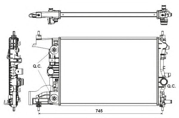 Радиатор, охлаждение двигателя NRF 53153