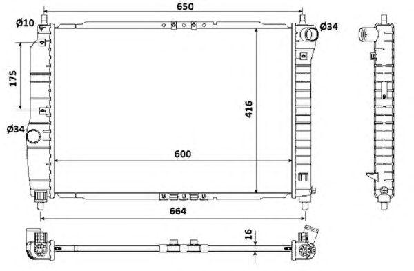 Радиатор, охлаждение двигателя NRF 53902