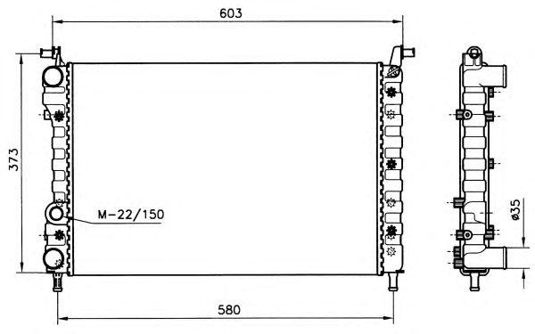 Радиатор, охлаждение двигателя NRF 58221