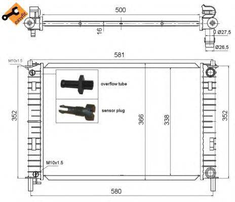 Радиатор, охлаждение двигателя NRF 58276