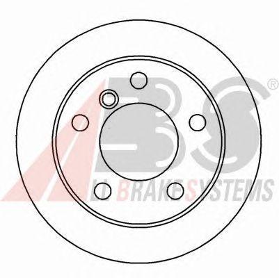 Тормозной диск A.B.S. 16338