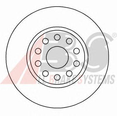 Тормозной диск A.B.S. 16582