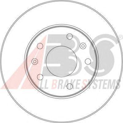 Тормозной диск A.B.S. 17011