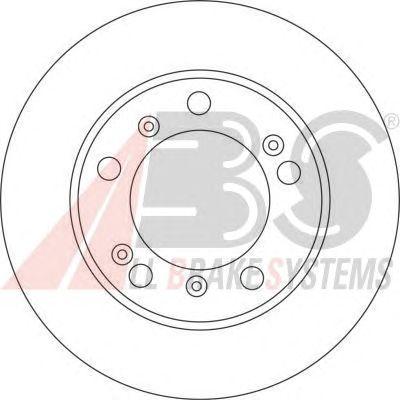 Тормозной диск A.B.S. 17073