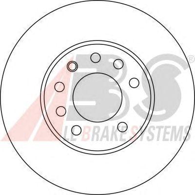 Тормозной диск A.B.S. 17368