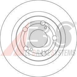 Тормозной диск A.B.S. 17509