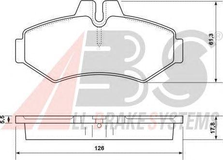Тормозные колодки A.B.S. 37124