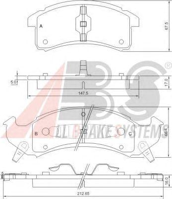 Тормозные колодки A.B.S. 38623