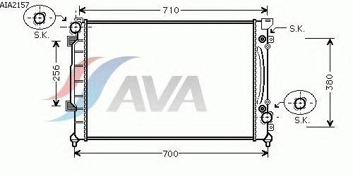Радиатор, охлаждение двигателя AVA QUALITY COOLING AIA2157