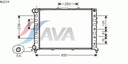Радиатор, охлаждение двигателя AVA QUALITY COOLING AL2114
