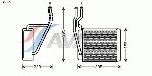 Радиатор отопителя AVA QUALITY COOLING FD6329