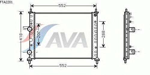 Радиатор, охлаждение двигателя AVA QUALITY COOLING FTA2201