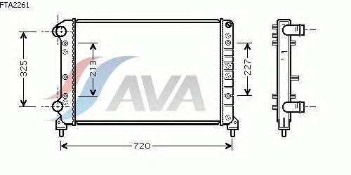 Радиатор, охлаждение двигателя AVA QUALITY COOLING FTA2261