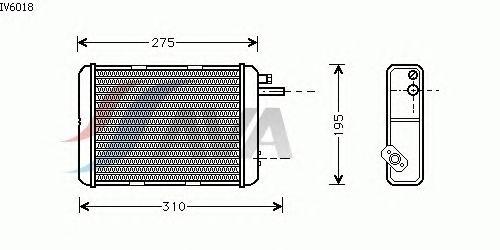 Радиатор отопителя AVA QUALITY COOLING IV6018