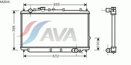 Радиатор, охлаждение двигателя AVA QUALITY COOLING KA2016