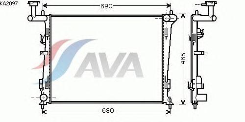 Радиатор, охлаждение двигателя AVA QUALITY COOLING KA2097
