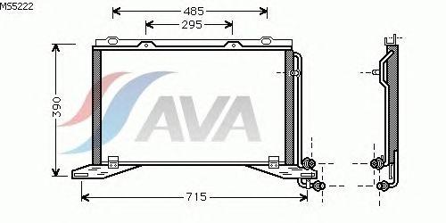 Радиатор кондиционера AVA QUALITY COOLING MS5222