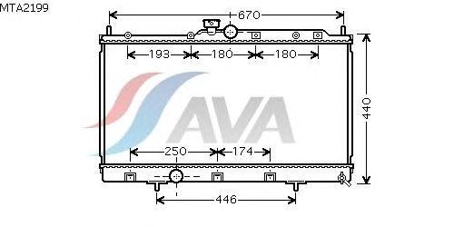 Радиатор, охлаждение двигателя AVA QUALITY COOLING MTA2199