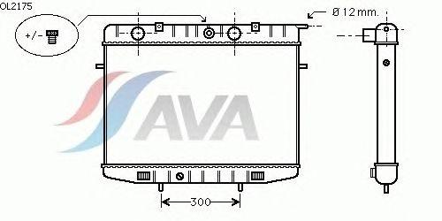Радиатор, охлаждение двигателя AVA QUALITY COOLING OL2175