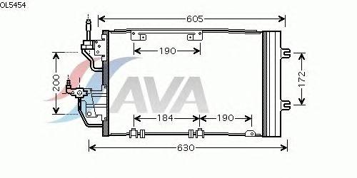 Радиатор кондиционера AVA QUALITY COOLING OL5454