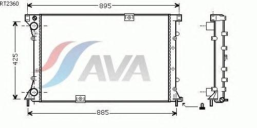 Радиатор, охлаждение двигателя AVA QUALITY COOLING RT2360
