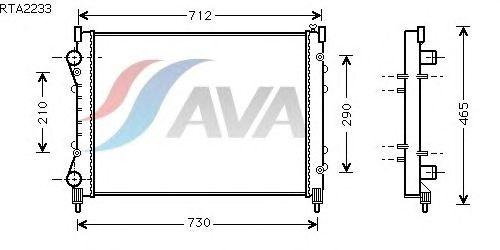 Радиатор, охлаждение двигателя AVA QUALITY COOLING RTA2233