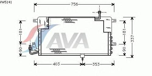 Радиатор кондиционера AVA QUALITY COOLING VW5141