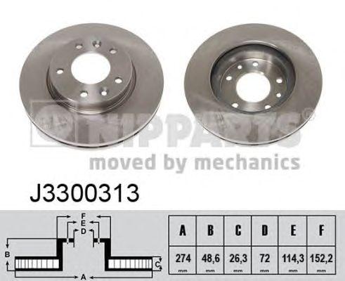 Тормозной диск NIPPARTS J3300313
