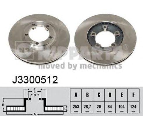 Тормозной диск NIPPARTS J3300512