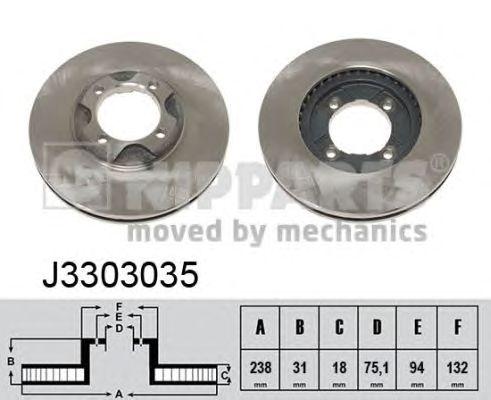Тормозной диск NIPPARTS J3303035