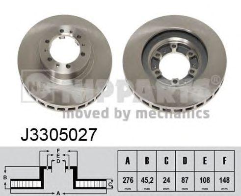 Тормозной диск NIPPARTS J3305027