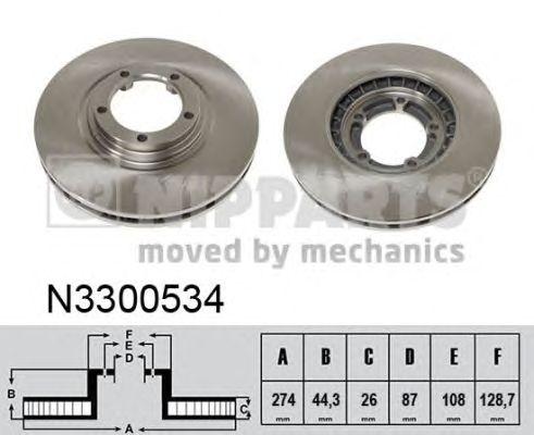 Тормозной диск NIPPARTS N3300534