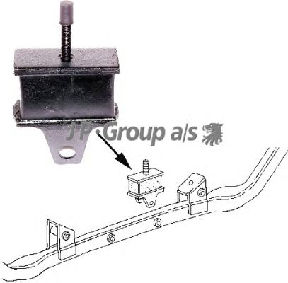 Подушка двигателя JP GROUP 1117900900