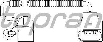 Датчик положения коленвала, распредвала TOPRAN 111 392