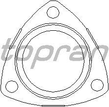 Прокладка, труба выхлопного газа TOPRAN 206 192