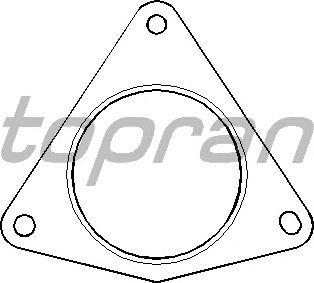 Прокладка, труба выхлопного газа TOPRAN 700 613